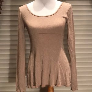 Michael Stars Gold Shimmer Tunic Top OS